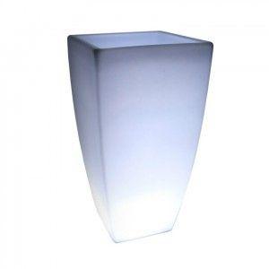 Кашпо с подсветкой для цветов LED Linea C, белое, IP65, 220V