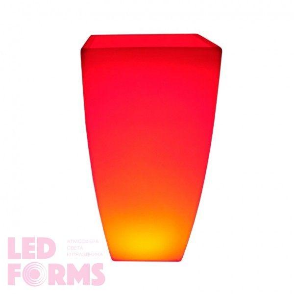 Светящееся цветочное кашпо с аккумулятором LED LINEA-2 c разноцветной RGB подсветкой и пультом USB IP65 — Купить в интернет-мага