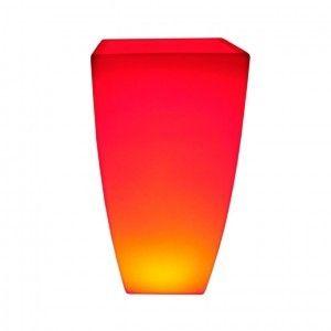 Светящееся цветочное кашпо с аккумулятором LED Linea B, с разноцветной RGB подсветкой и пультом ДУ, IP65