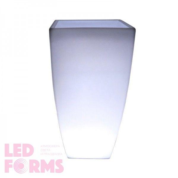 Светящееся кашпо для цветов LED LINEA-2 c белой светодиодной подсветкой IP65 220V — Купить в интернет-магазине LED Forms