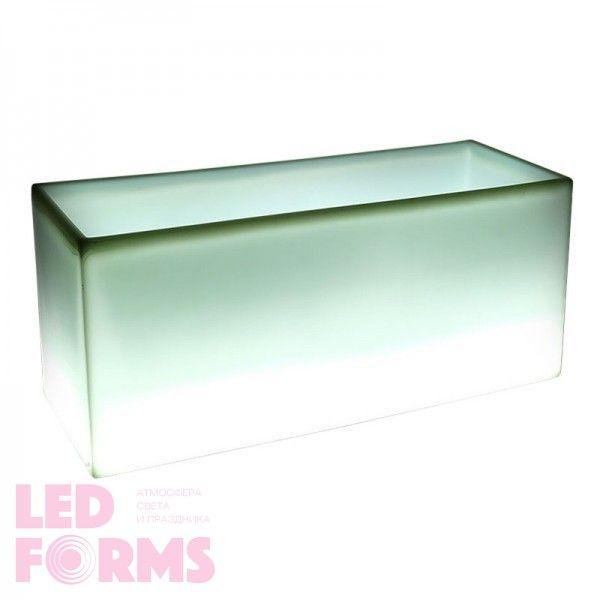 Светящееся кашпо для цветов LED TETRA-2 c белой светодиодной подсветкой IP65 220V — Купить в интернет-магазине LED Forms