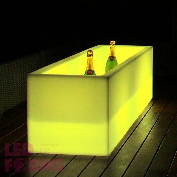 Кашпо с подсветкой LED Tetra B, 127*45*56 см., светодиодное, разноцветное (RGB), 220V