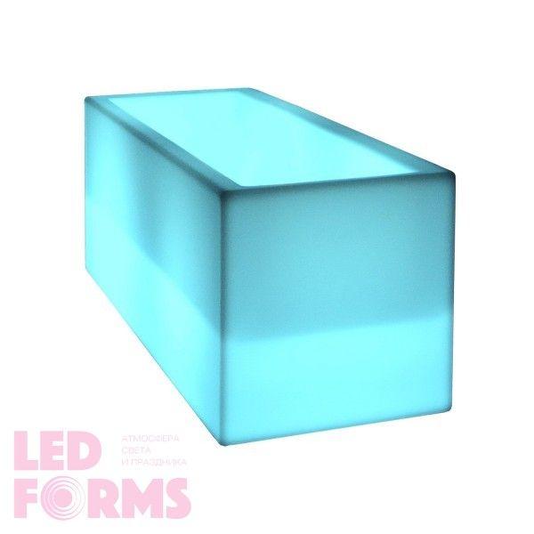 Светящееся кашпо для цветов LED TETRA-1 c разноцветной RGB подсветкой и пультом ДУ IP65 220V — Купить в интернет-магазине LED Fo