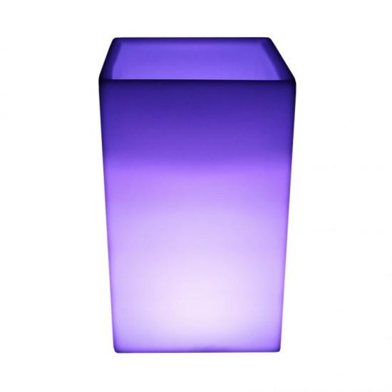 Светящееся кашпо для цветов LED BORA-3 c разноцветной RGB подсветкой и пультом ДУ IP65 220V — Купить в интернет-магазине LED For
