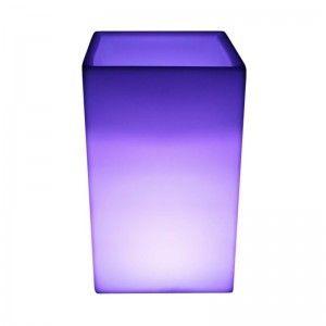 Светящееся цветочное кашпо с аккумулятором LED Bora C, с разноцветной RGB подсветкой и пультом ДУ, IP65