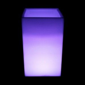 Кашпо с подсветкой LED Bora C, 40*40*71 см., светодиодное, разноцветное (RGB), встроенный аккумулятор