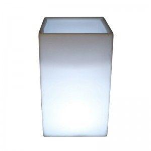 Кашпо с подсветкой для цветов LED Bora C, белое, IP65, 220V