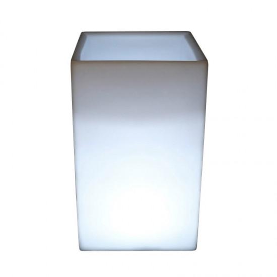 Кашпо с подсветкой LED Bora C, 40*40*71 см., светодиодное, цвет белый, 220V