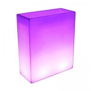 Светящееся цветочное кашпо с аккумулятором LED Wall B, с разноцветной RGB подсветкой и пультом ДУ, IP65