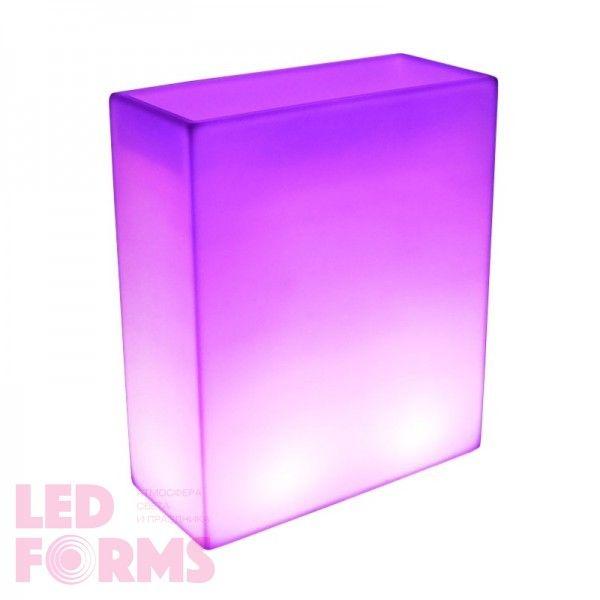 Светящееся кашпо для цветов LED WALL-2 c разноцветной RGB подсветкой и пультом ДУ IP65 220V — Купить в интернет-магазине LED For
