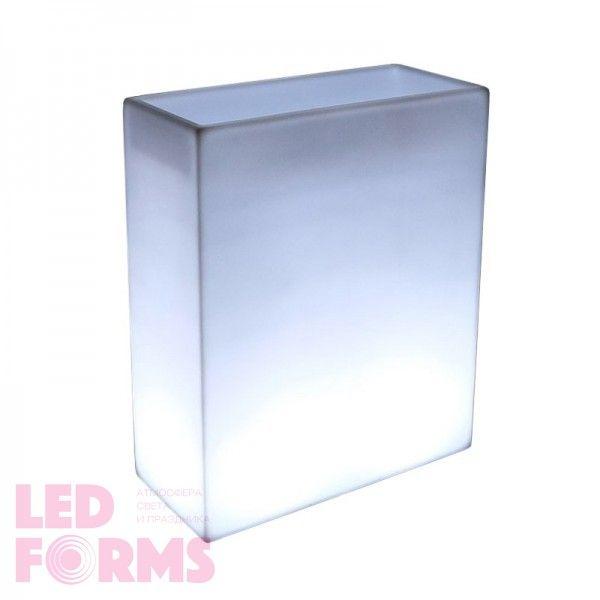 Кашпо с подсветкой LED Wall B, 70*31*90 см., светодиодное, цвет белый, 220V