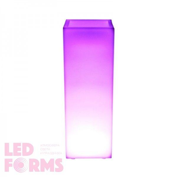 Кашпо с подсветкой LED Bora A, 31*31*90 см., светодиодное, разноцветное (RGB), встроенный аккумулятор