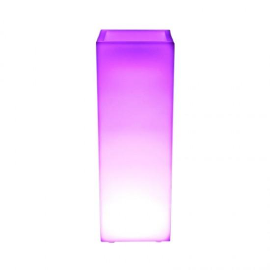 Светящееся цветочное кашпо с аккумулятором LED BORA-1 c разноцветной RGB подсветкой и пультом USB IP65 — Купить в интернет-магаз