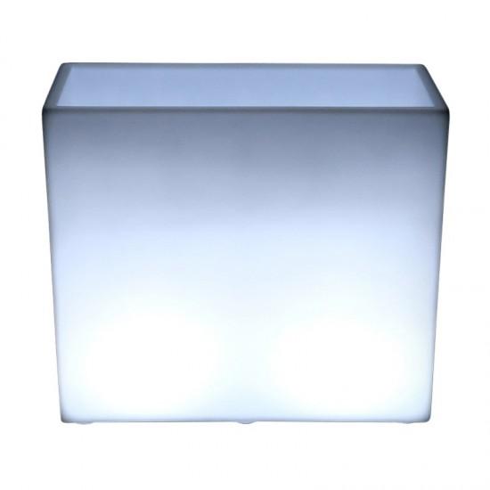 Светящееся кашпо для цветов LED WALL-1 c белой светодиодной подсветкой IP65 220V — Купить в интернет-магазине LED Forms