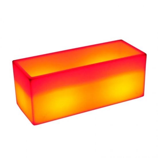 Светящееся цветочное кашпо с аккумулятором LED HORIZON-1 c разноцветной RGB подсветкой и пультом USB IP65 — Купить в интернет-ма