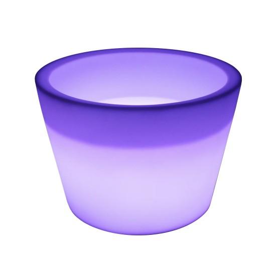 Светящаяся кадка для цветов LED BARREL c разноцветной RGB подсветкой и пультом ДУ IP65 220V — Купить в интернет-магазине LED For