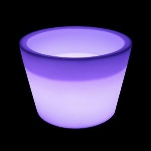 Кашпо с подсветкой LED Cylinder B, 61*79*53 см., светодиодное, разноцветное (RGB), встроенный аккумулятор