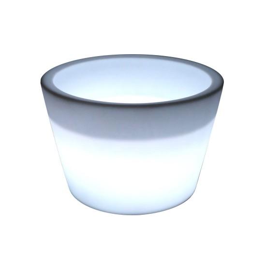 Кашпо с подсветкой LED Tube B, 61*79*53 см., светодиодное, цвет белый, 220V