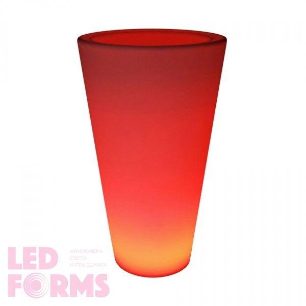 Кашпо с подсветкой LED Cylinder C, 34*60*108 см., светодиодное, разноцветное (RGB), 220V