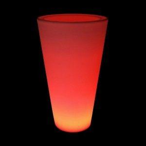 Кашпо с подсветкой LED Cylinder C, 34*60*108 см., светодиодное, разноцветное (RGB), встроенный аккумулятор