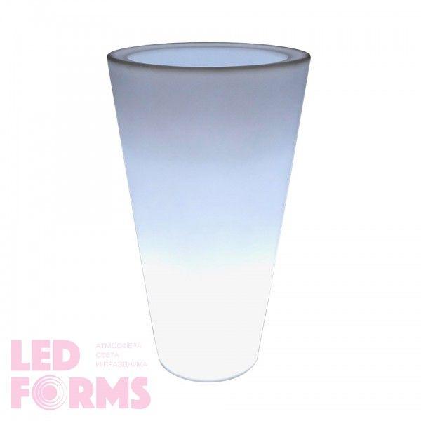 Кашпо с подсветкой LED Tube C, 34*60*108 см., светодиодное, цвет белый, 220V