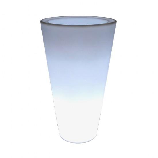 Светящееся кашпо для цветов LED CONE c белой светодиодной подсветкой IP65 220V — Купить в интернет-магазине LED Forms