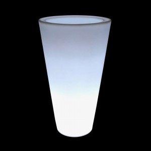 Кашпо с подсветкой LED Cylinder C, 34*60*108 см., светодиодное, цвет белый, 220V