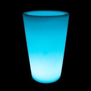 Кашпо с подсветкой LED Tube D, 52*69*110 см., светодиодное, разноцветное (RGB), встроенный аккумулятор
