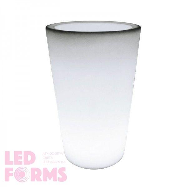 Кашпо с подсветкой LED Tube D, 52*69*110 см., светодиодное, цвет белый, 220V