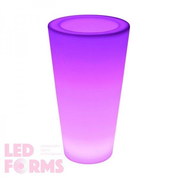 Кашпо с подсветкой LED Tube A, 27*41*75 см., светодиодное, разноцветное (RGB), 220V