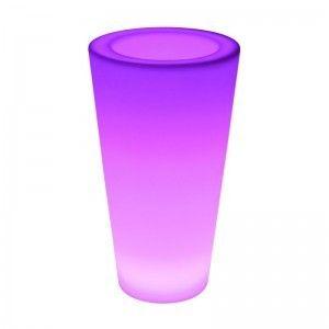Кашпо с подсветкой LED Tube A, 27*41*75 см., светодиодное, разноцветное (RGB), с аккумулятором