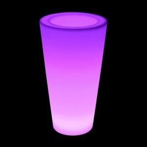 Кашпо с подсветкой LED Cylinder A, 27*41*75 см., светодиодное, разноцветное (RGB), встроенный аккумулятор