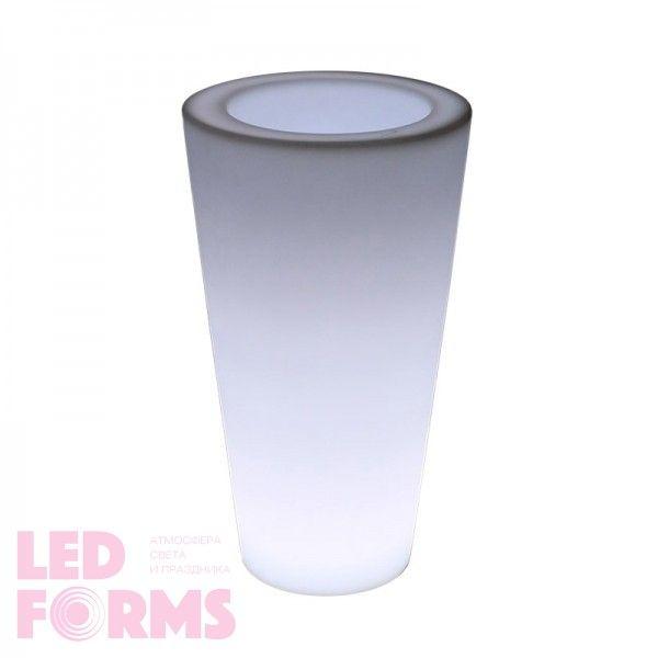 Светящееся кашпо для цветов LED TUBE-1 c белой светодиодной подсветкой IP65 220V — Купить в интернет-магазине LED Forms