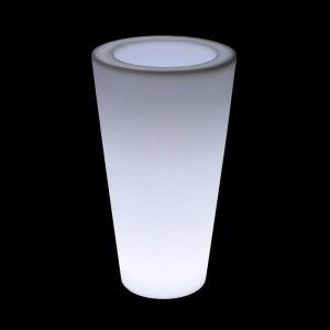 Кашпо с подсветкой LED Tube A, 27*41*75 см., светодиодное, цвет белый, 220V