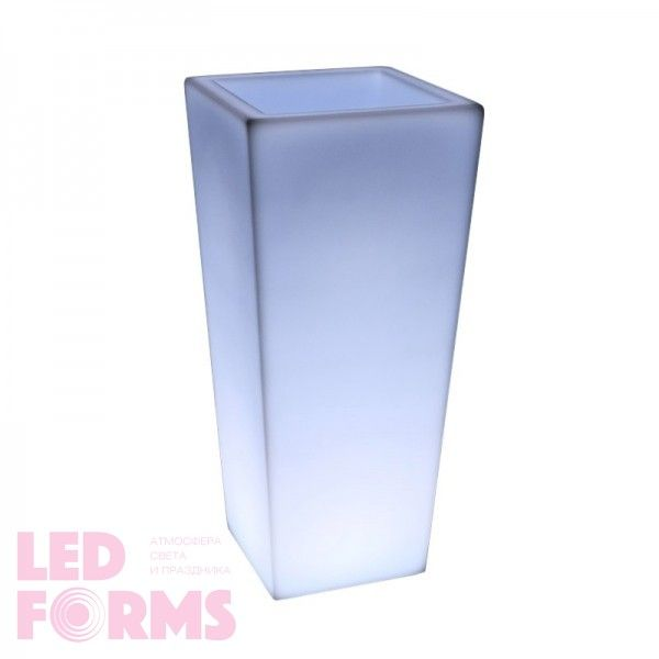 Светящееся кашпо для цветов LED QUADRUM-4 c белой светодиодной подсветкой IP65 220V — Купить в интернет-магазине LED Forms