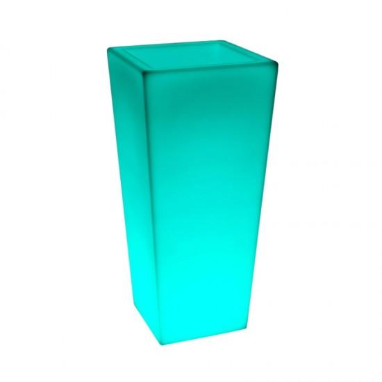 Кашпо с подсветкой LED Quadrum D, 40*40*90 см., светодиодное, разноцветное (RGB), 220V