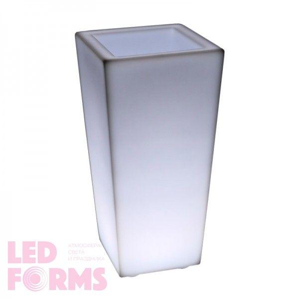 Кашпо с подсветкой LED Quadrum C, 35*35*74 см., светодиодное, цвет белый, 220V