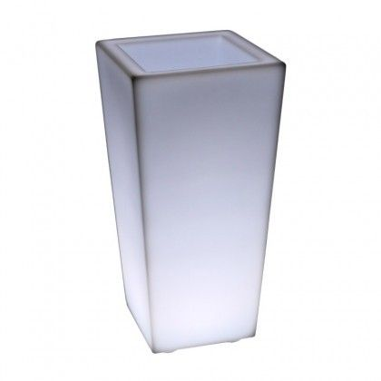 Светящееся кашпо для цветов LED QUADRUM-3 c белой светодиодной подсветкой IP65 220V — Купить в интернет-магазине LED Forms