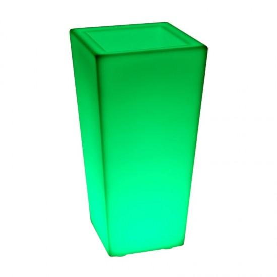 Светящееся кашпо для цветов LED QUADRUM-3 c разноцветной RGB подсветкой и пультом ДУ IP65 220V — Купить в интернет-магазине LED