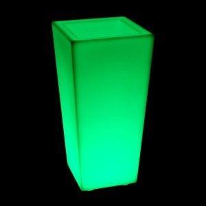 Кашпо с подсветкой LED Quadrum C, 35*35*74 см., светодиодное, разноцветное (RGB), 220V