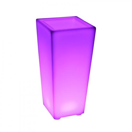 Светящееся кашпо для цветов LED QUADRUM-2 c разноцветной RGB подсветкой и пультом ДУ IP65 220V — Купить в интернет-магазине LED