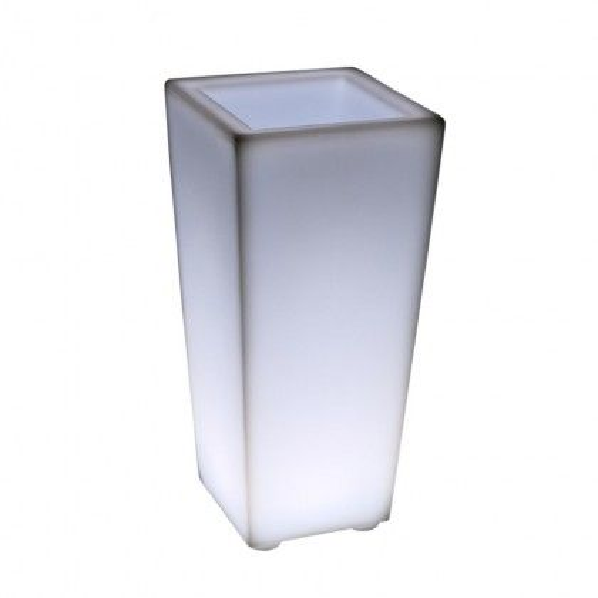 Светящееся кашпо для цветов LED QUADRUM-2 c белой светодиодной подсветкой IP65 220V — Купить в интернет-магазине LED Forms