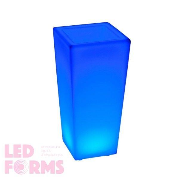 Цветочное кашпо с аккумулятором LED QUADRUM-1 c разноцветной RGB подсветкой и пультом USB IP65 — Купить в интернет-магазине LED