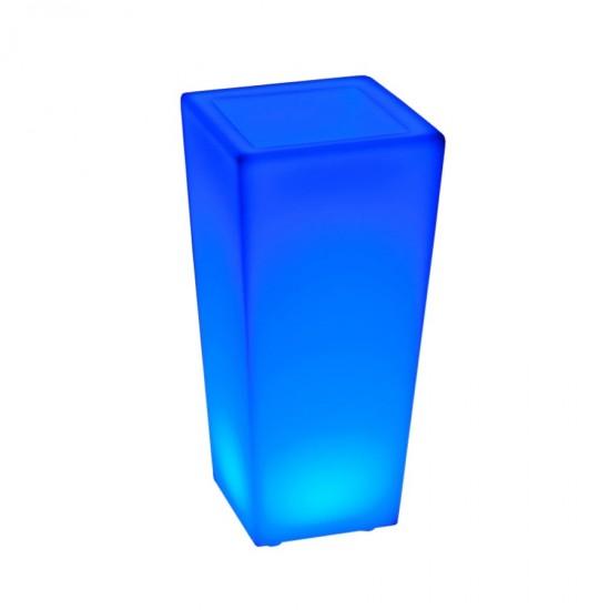Кашпо с подсветкой LED Quadrum A, 26*26*56 см., светодиодное, разноцветное (RGB), встроенный аккумулятор