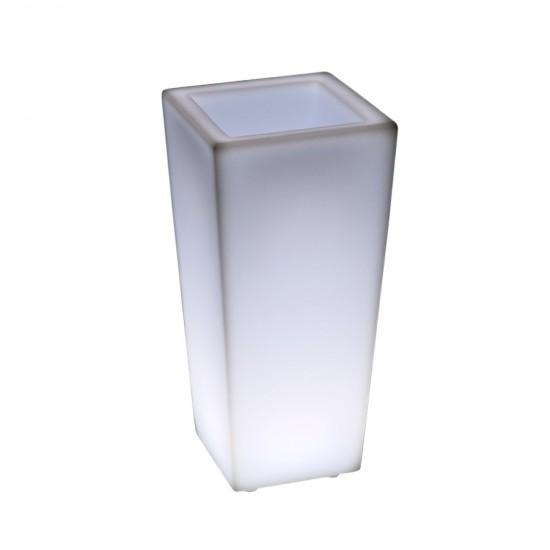 Светящееся кашпо для цветов LED QUADRUM-1 c белой светодиодной подсветкой IP65 220V — Купить в интернет-магазине LED Forms