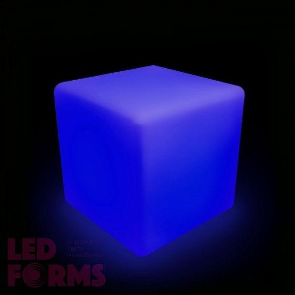 Куб светящийся беспроводной LED, 50*50*50 см., разноцветный (RGB), пылевлагозащита IP68, встроенный аккумулятор