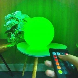 Шар светящийся беспроводной LED, диам. 30 см., разноцветный (RGB), IP68, с аккумулятором