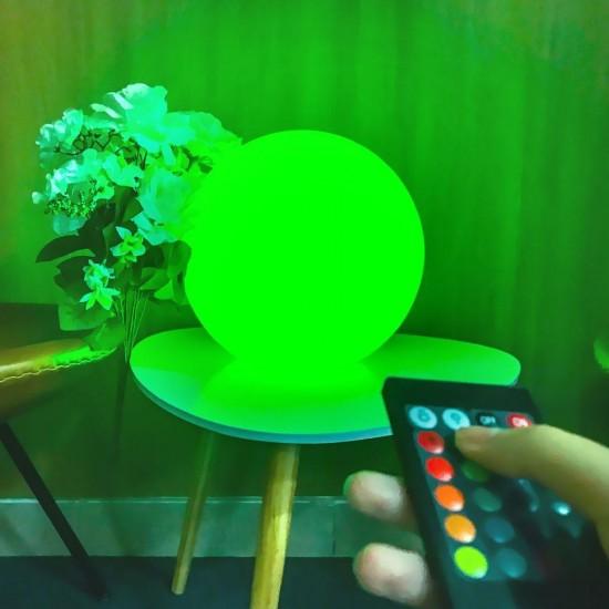 Шар светящийся беспроводной LED, диам. 30 см., разноцветный (RGB), пылевлагозащита IP68, встроенный аккумулятор