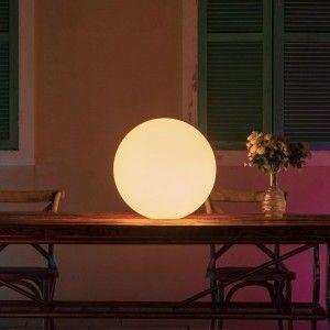 Светящийся шар LED Ball 35 см., с аккумулятором, разноцветный RGB, с пультом ДУ, IP68