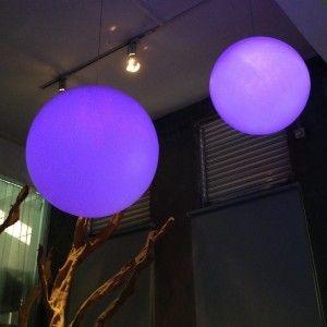 Подвесной светящийся LED Шар 80 см., светодиодный светильник, разноцветный RGB, с пультом ДУ, IP65